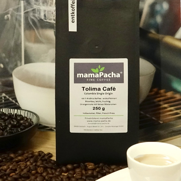 Tolima Café 125 g Ganze Bohnen